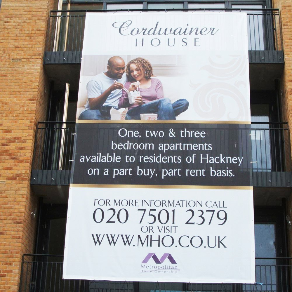 340gsm mesh banner printing near Bracknell and Reading by Printroom