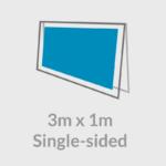 3x1 banner frame