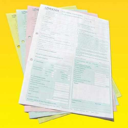 4-part NCR form printing in Thames Valley
