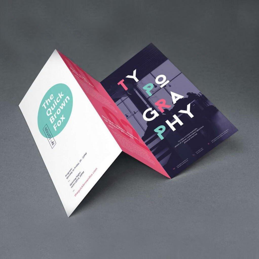 6pp folded DL leaflet printing Bracknell, Reading, Camberley Farnborough