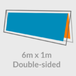 6m x 1m outdoor banner stand