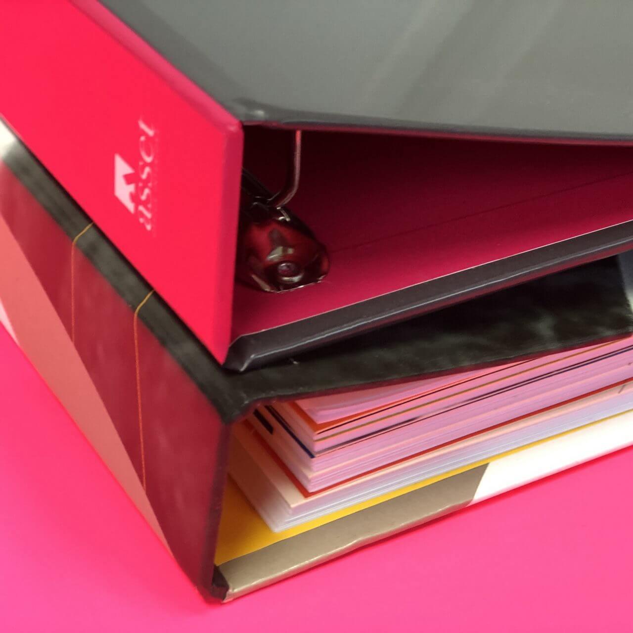Ring binder printing