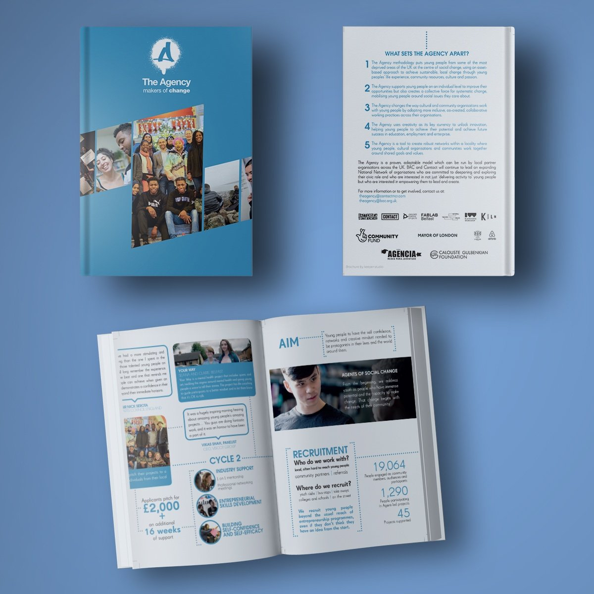 A4 Hardback book Brochure