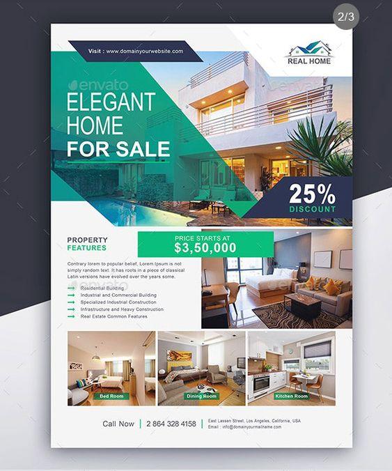 Estate Agency A4 Details Leaflet