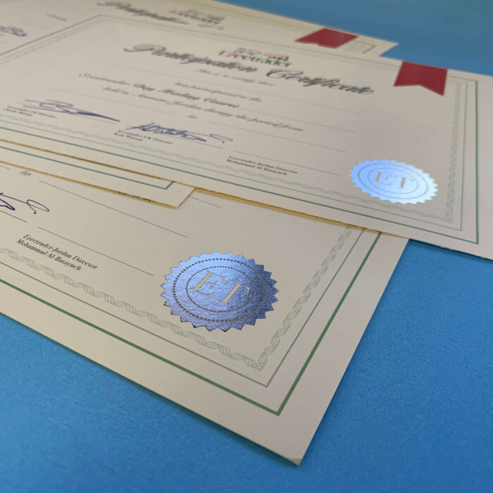 Silver Foiled Certificates