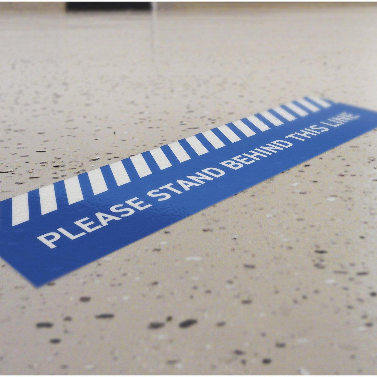 Social Distance Floor Queue Stickers