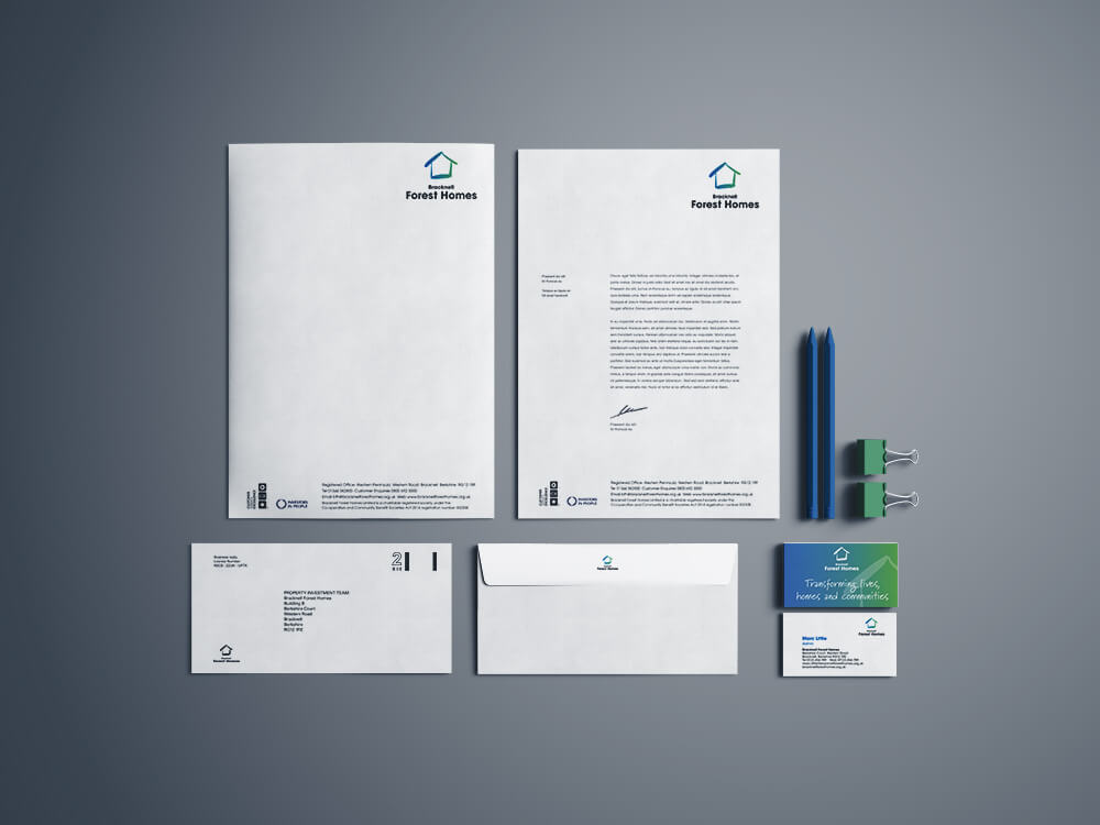 Business stationery letterheads, compliment slips etc