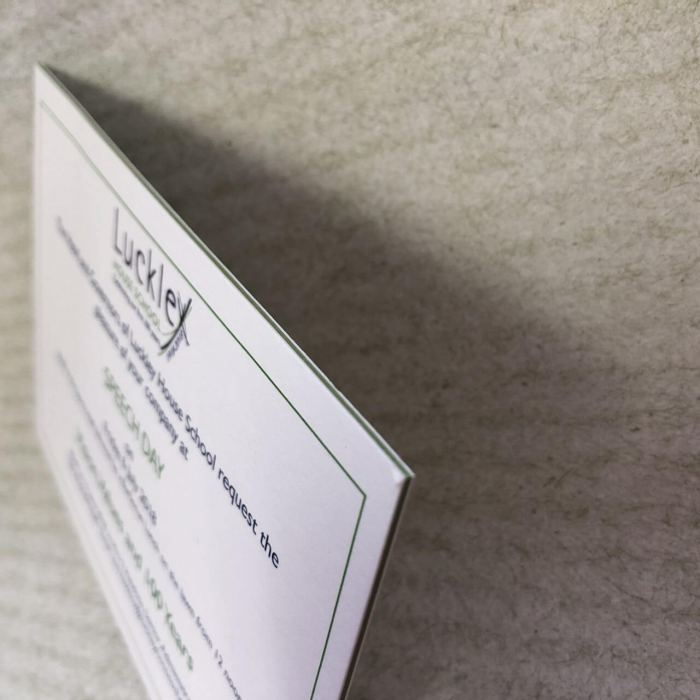 Coloured edge business card printing in Bracknell