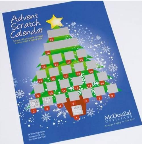 Advent Scratch Cards