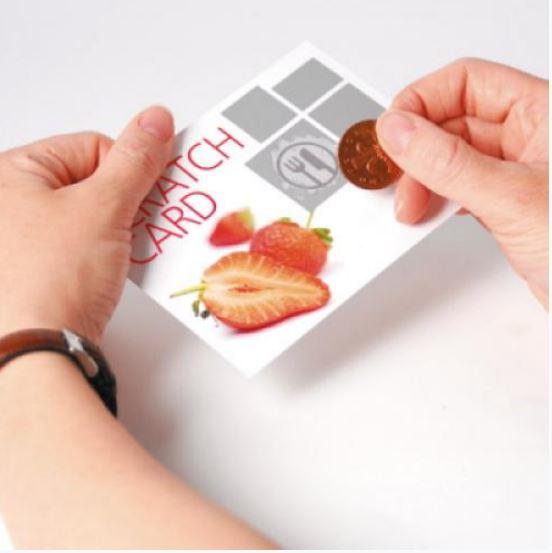 scratch cards printed