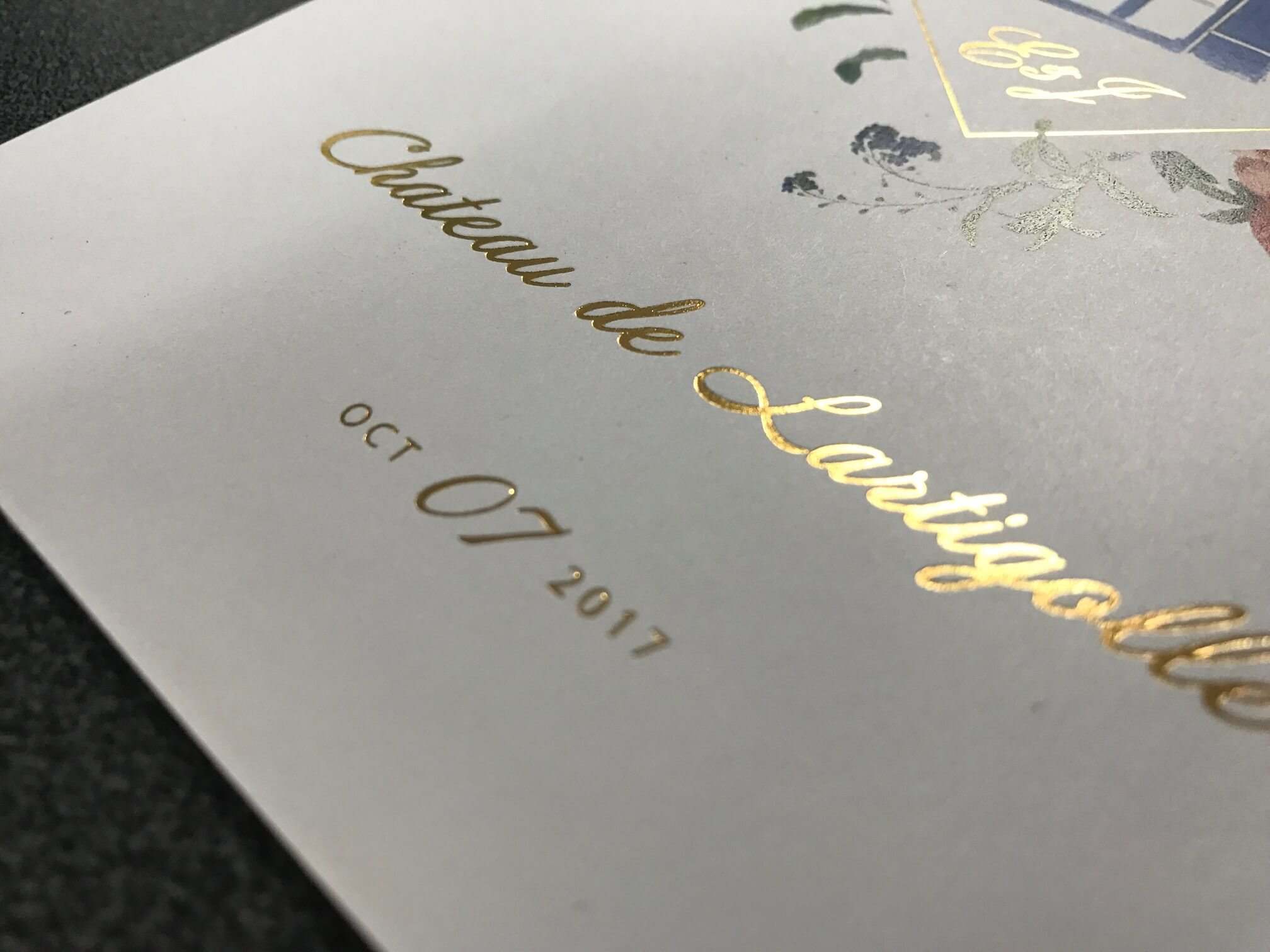 Gold Foiled printed certificate