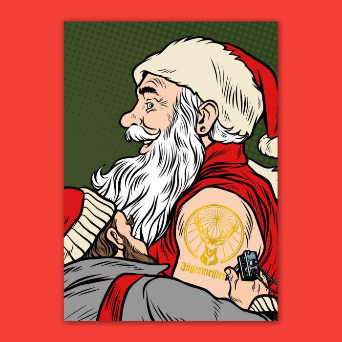 Gold Foiled Christmas Acrd