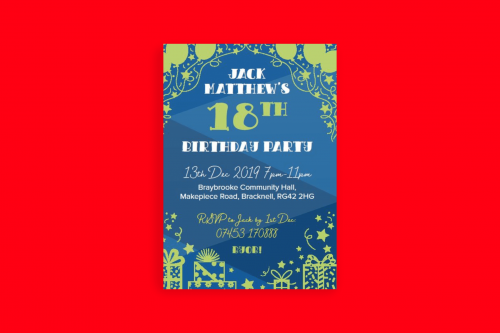 A6 Invites