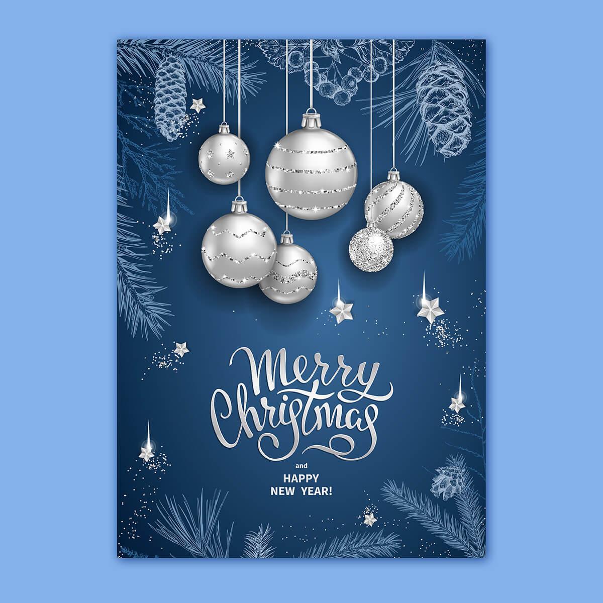Foiled Christmas Cards