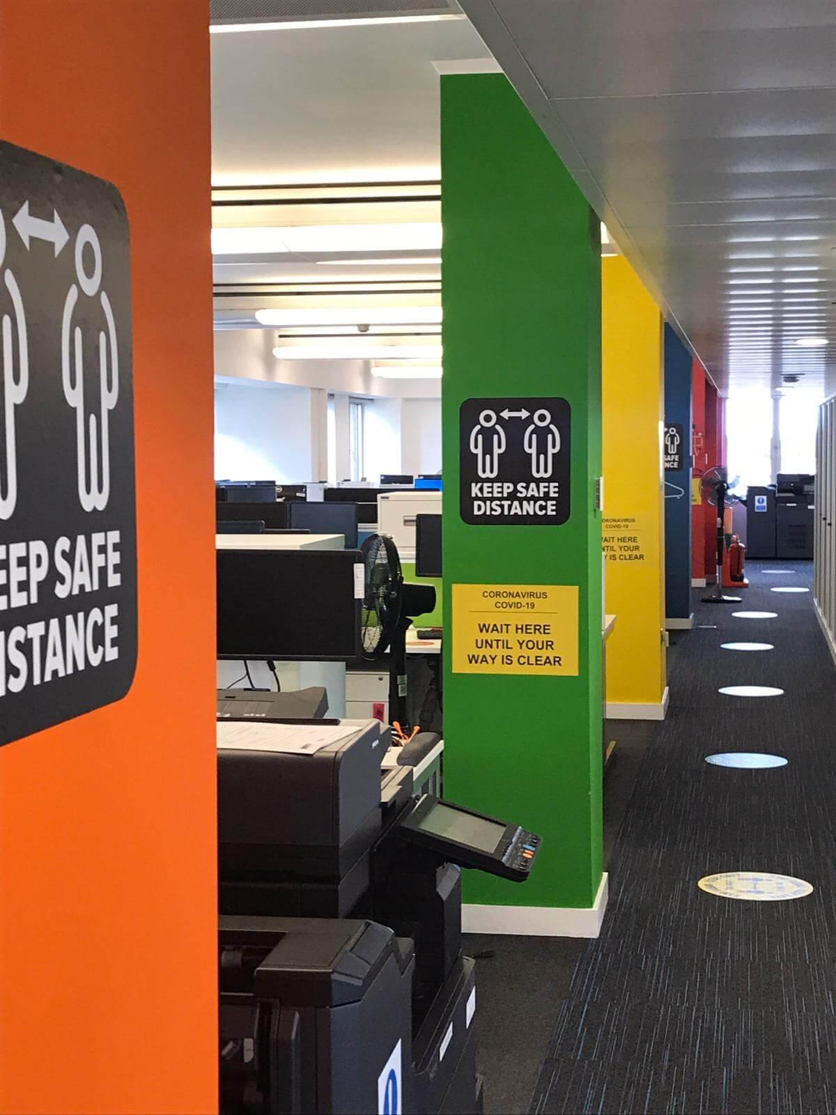Social Distincing Office 2021
