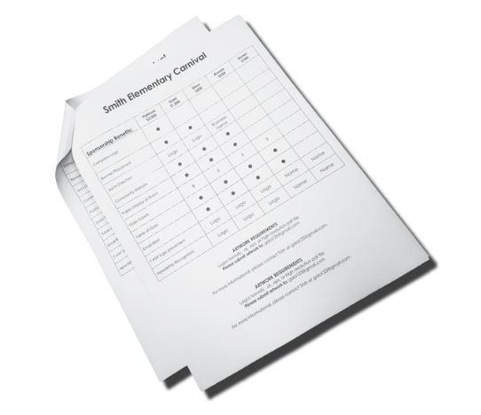 stapled document printing